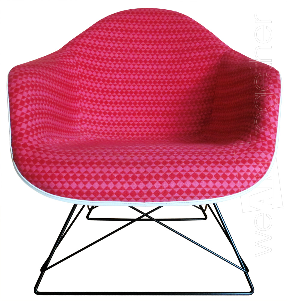 Charles et ray eames alexander girard fauteuil modle for Fauteuil eames tissu