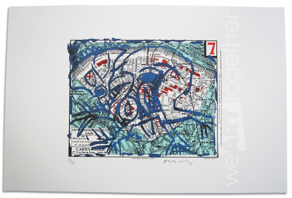 Alechinsky lithographie originale numrote et signe de for Alechinsky lithographie